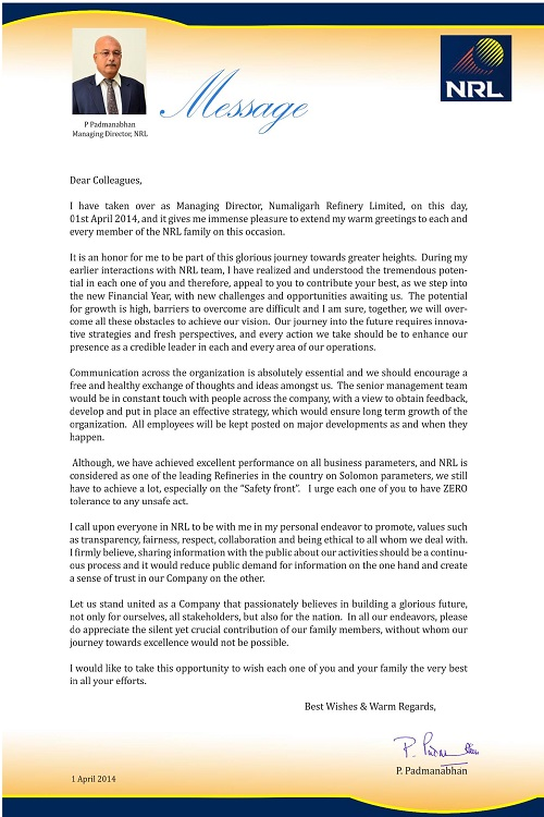 Managing Director's Message - Power International ...