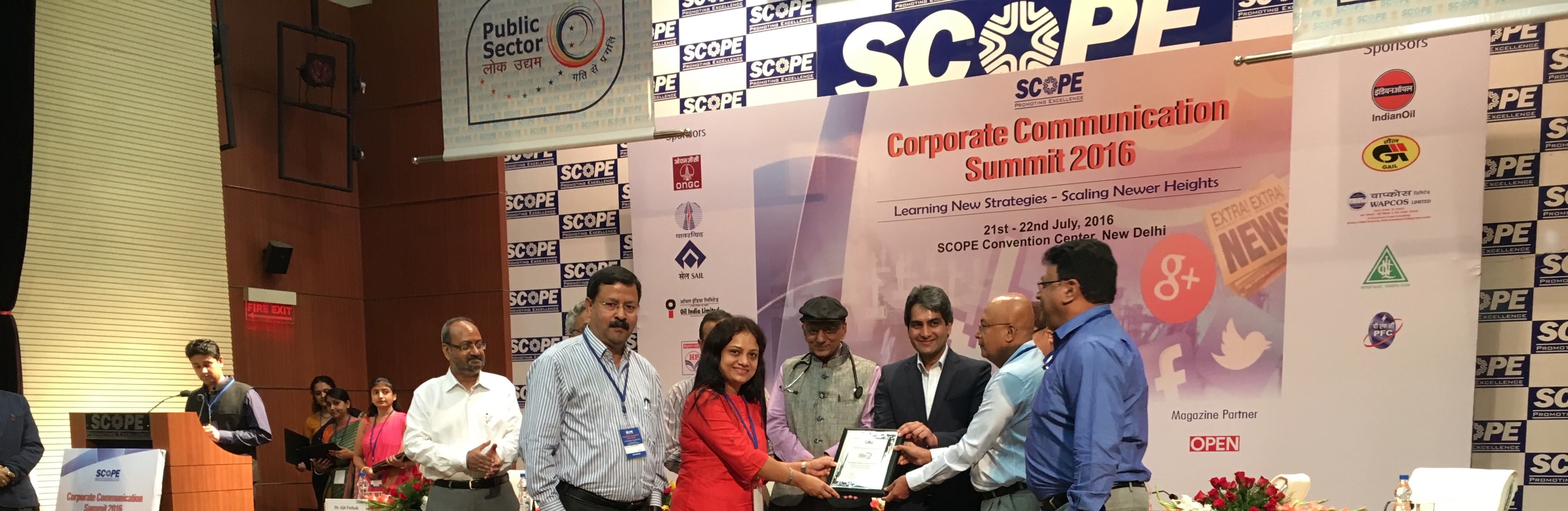 SCOPE Corporate Communication Excellence award